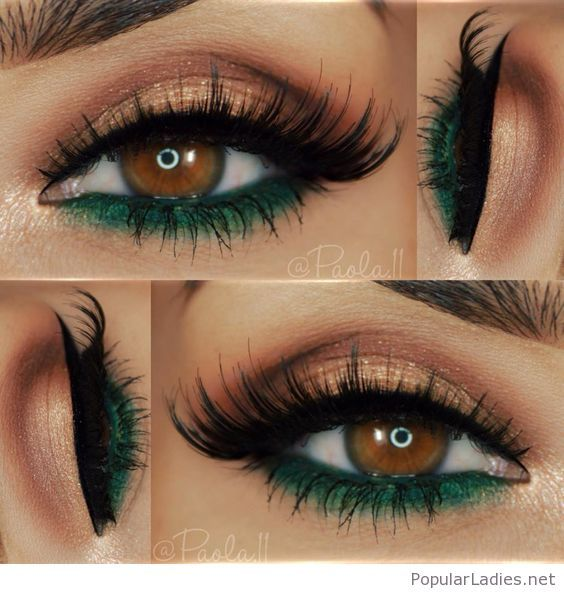 Nude And Green Eye Makeup For Brown Eyes In 2018 Hair And Makeup
