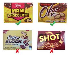 Comparativa - Hoy Maní con Chocolate. Cuales son veganos?? enterate acá!