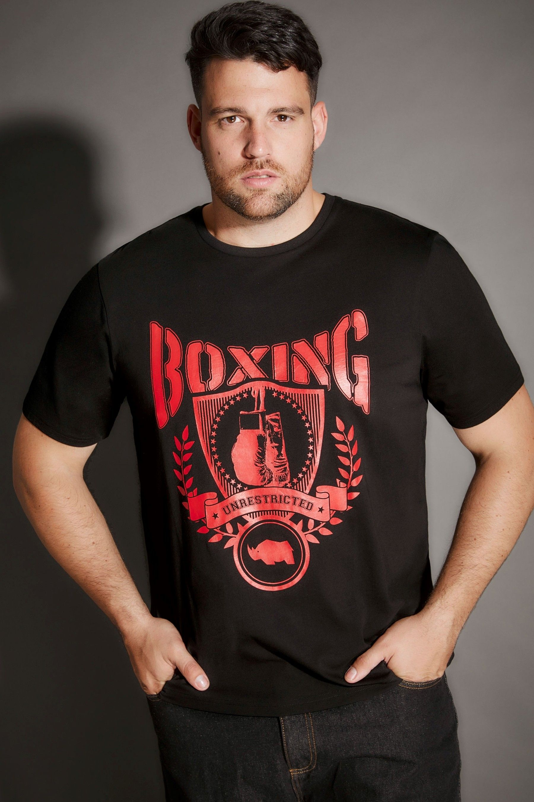 588c0a1f20 Mens Bad Rhino Boxing Print T-Shirt - Black in 2019 | Products | T ...