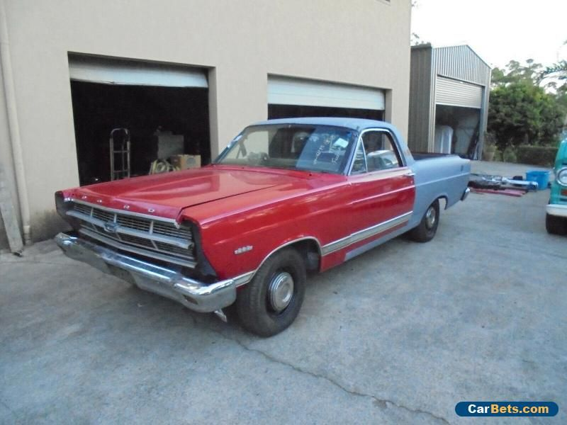 Car For Sale 1967 Ford Ranchero Ute Project 2 Owner Factory Red