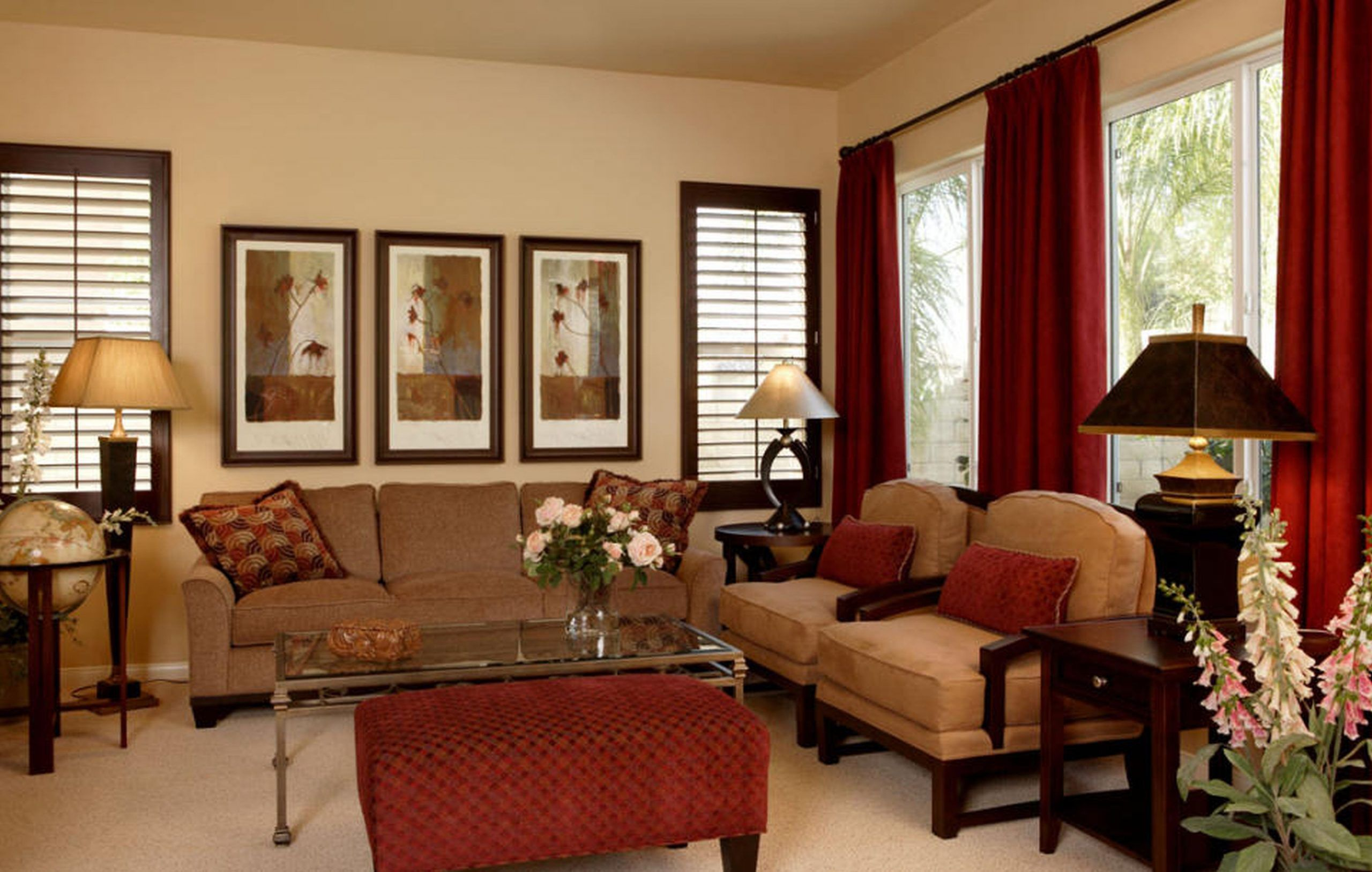 Westend61/getty images do you have a perfect living room? Living Room Decor In Red and Brown 20 Beautiful ...