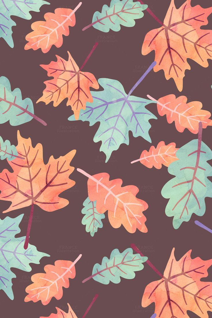3 For 2 Fall Autumn Digital Papers Thanksgiving Watercolor Pumpkin Squirrel Cupcake Acorn Leaves Leaf Turkey Polka Dots Pattern Cute Fall Wallpaper Fall Wallpaper Halloween Wallpaper Iphone
