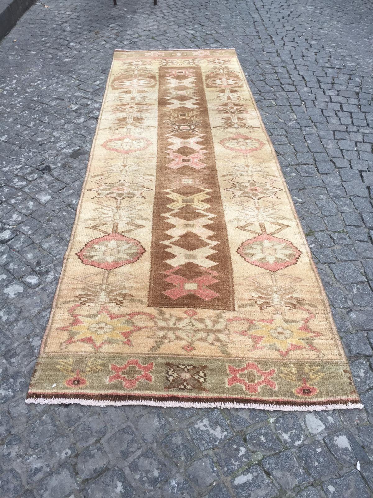 Turkish Carpet, 039 3Ft x 10Ft.  320cm x 107cm Vintage handmade Low pile Tribal Carpet  Anatolia. #carpet #rug #homedecor #officerunner #runner #oushak #HomeDécor #turkishkilimpillow #bohemianpillow #cushioncover #decorativepillow #pillowcase #bohokilimpillow #turkish #rug #etsyrug #etsy #etsyshop #carpet #homedecor #homedizayn #homedesign #newyork #america #dallas #handmaderug #handmade #ottoman #ottomanrug #ruglove #kilimmodelleri #kilimmobilya #vintage #vintagestyle #oushakrug #kilim