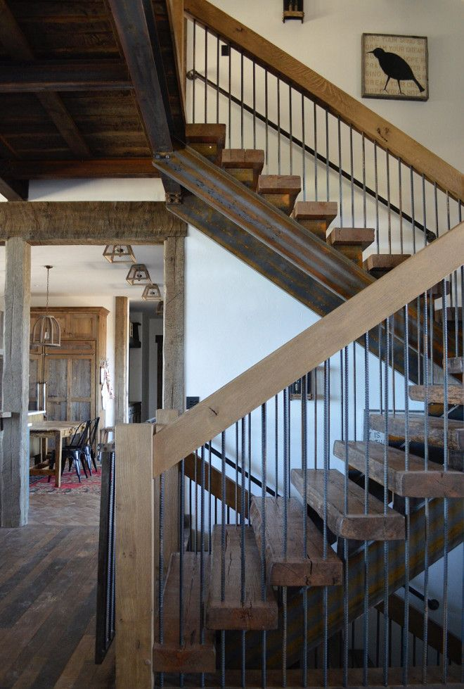 Best Rustic Staircase This Rustic Staircase Feature Reclaimed 400 x 300