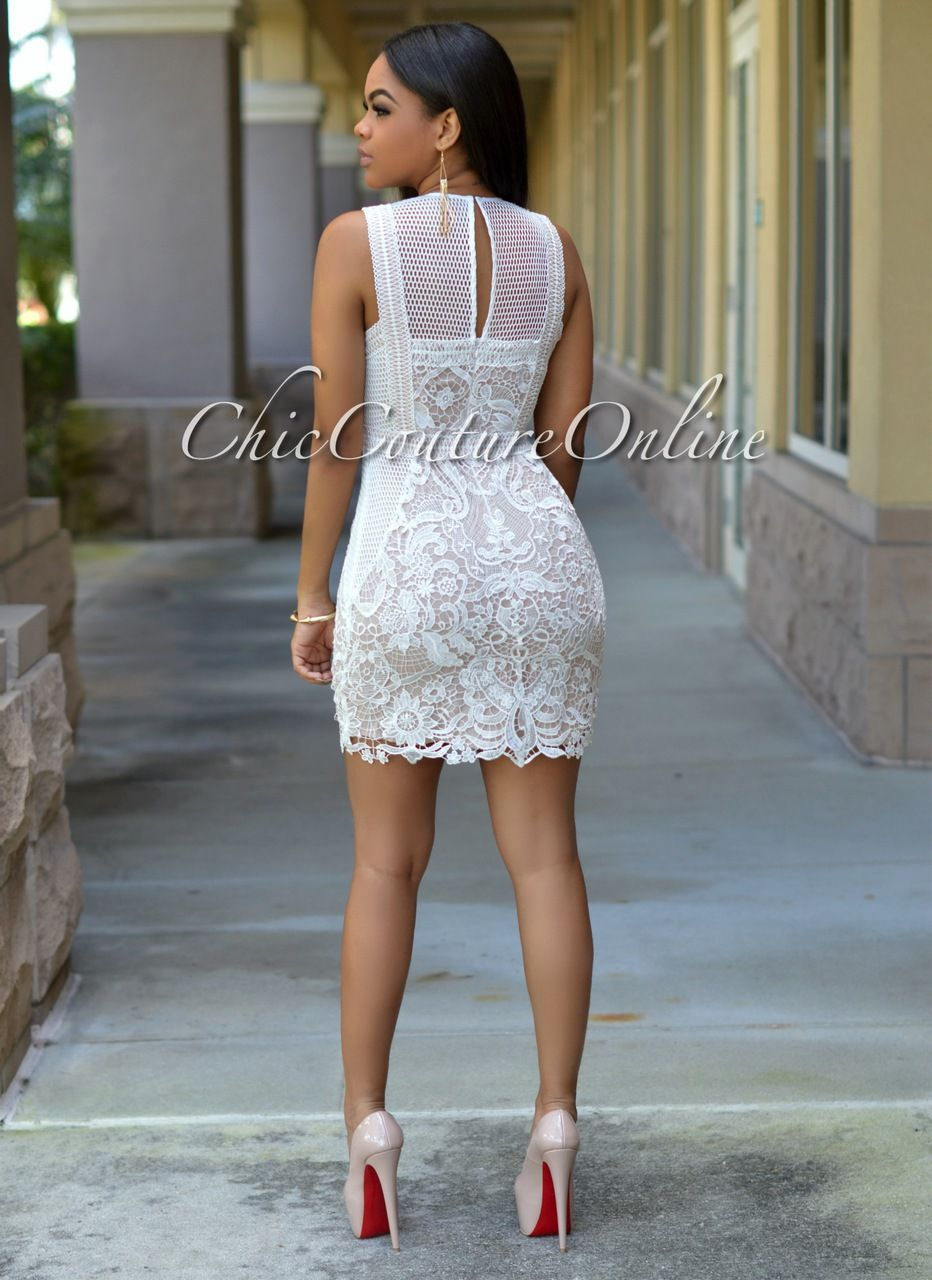 Chic Couture Online - Abyss Off-White Embroidery Lace Nude Luxe Dress, (http://www.chiccoutureonline.com/abyss-off-white-embroidery-lace-nude-luxe-dress/)