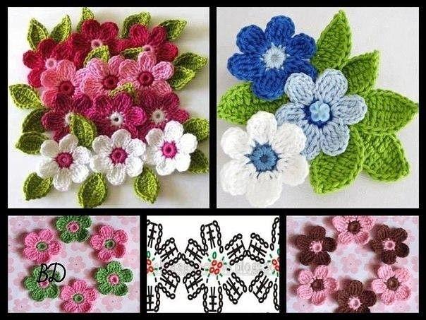 красивые цветочки крючком вязаные цветы журнал вдохновение