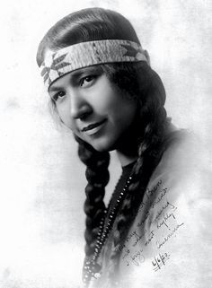 Tsianina Redfeather, a famous Creek/Cherokee singer and performer. Source - Denver Public Library.