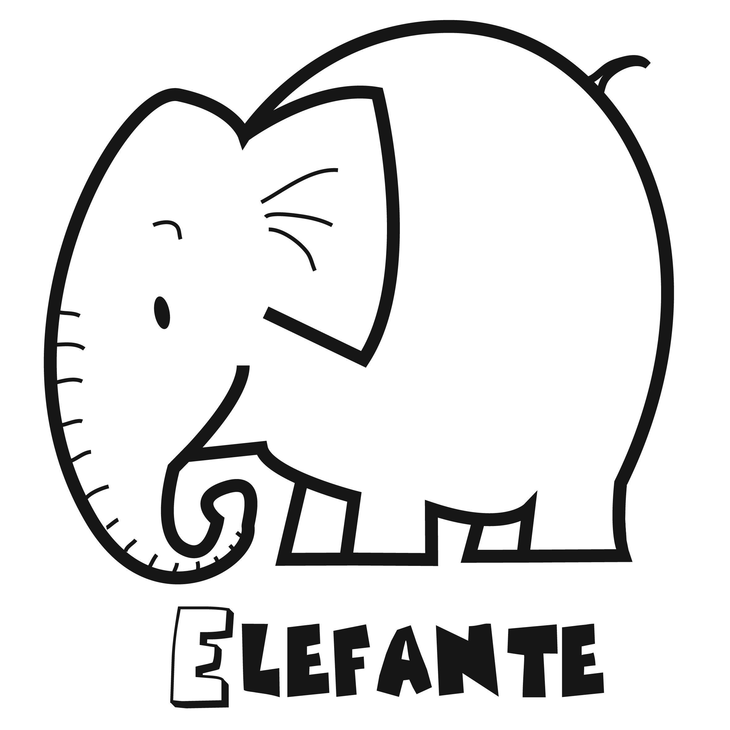 Colorear el elefante  dibujos  Pinterest  El elefante Colorear