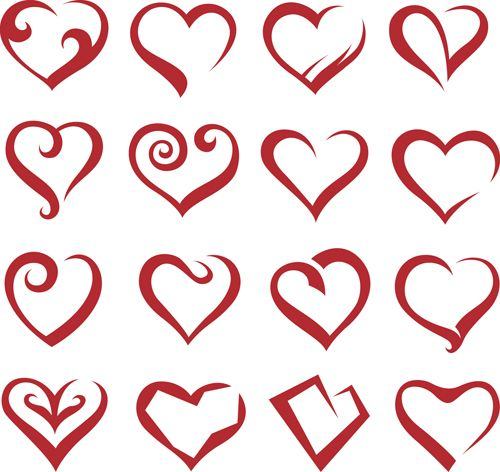 different heart icons design vector set 04 - other icons free download |  heart icons, vector icons free, free vector art  pinterest