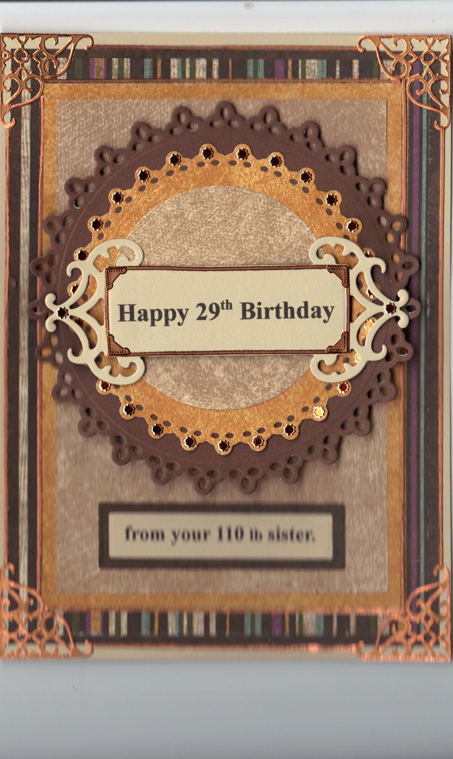 Birthday card for my brother on his 60th and i dont