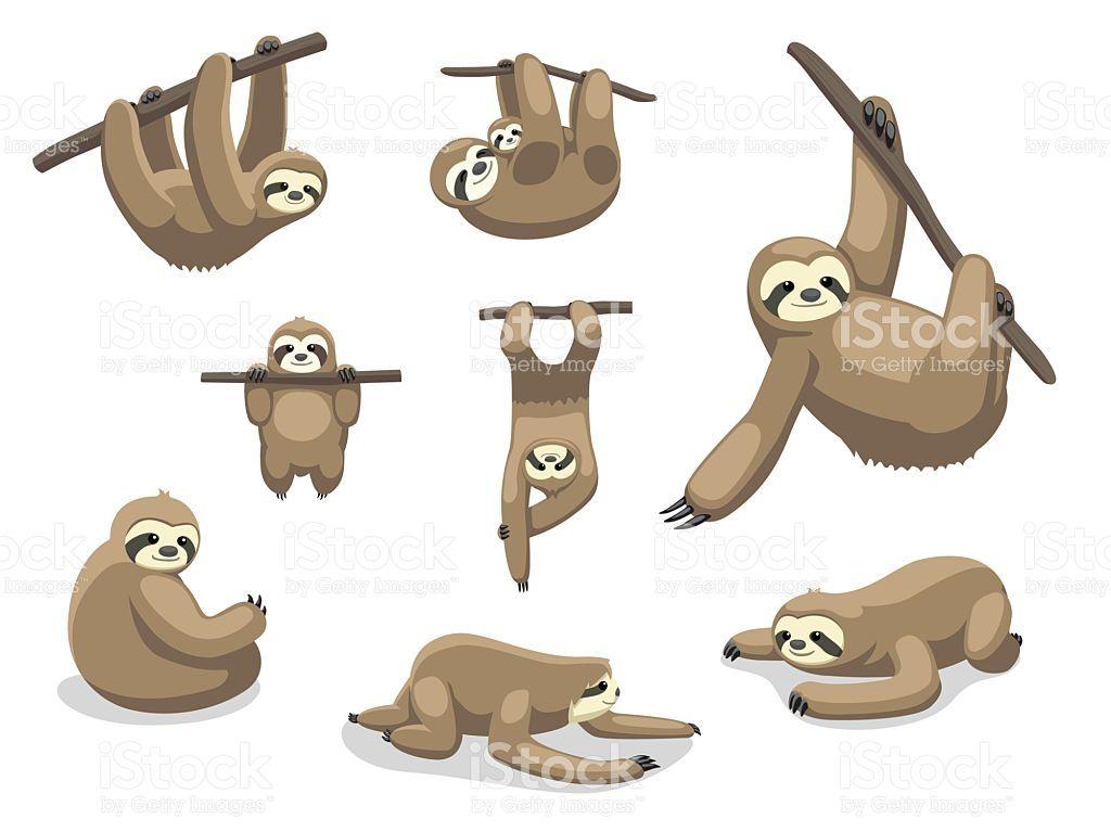 http://media.istockphoto.com/vectors/sloth-poses-cartoon ...