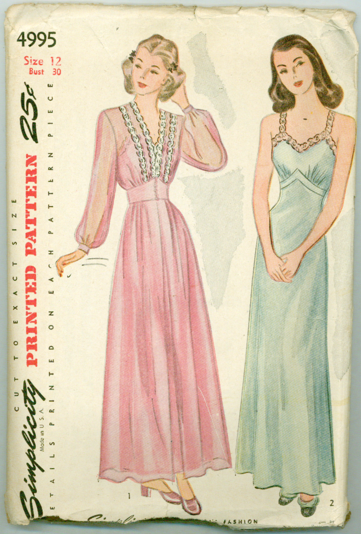 Simplicity 4995 - Misses Nightgown and Negligee