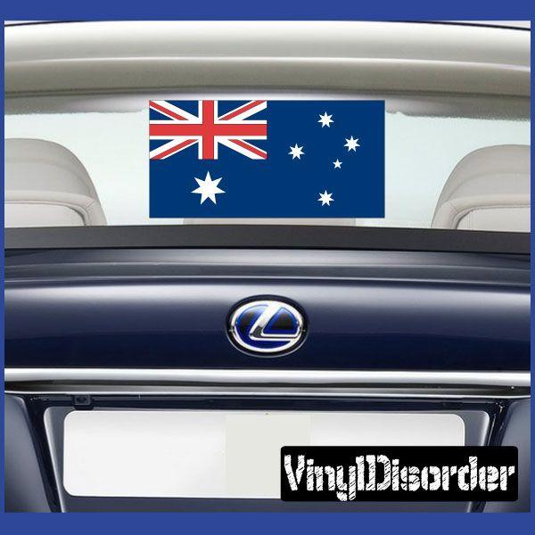 Australia flag sticker car or wall vinyl decal