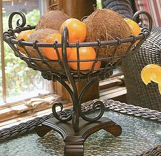 Decorative Metal And Wrought Iron Fruit Bowl Fruit Bowl Display Metal Decor Decor