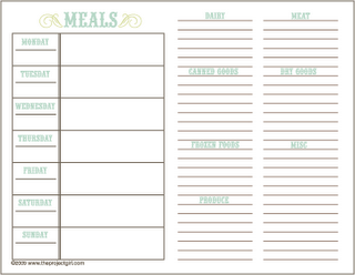 meal planning printables and organization ideas