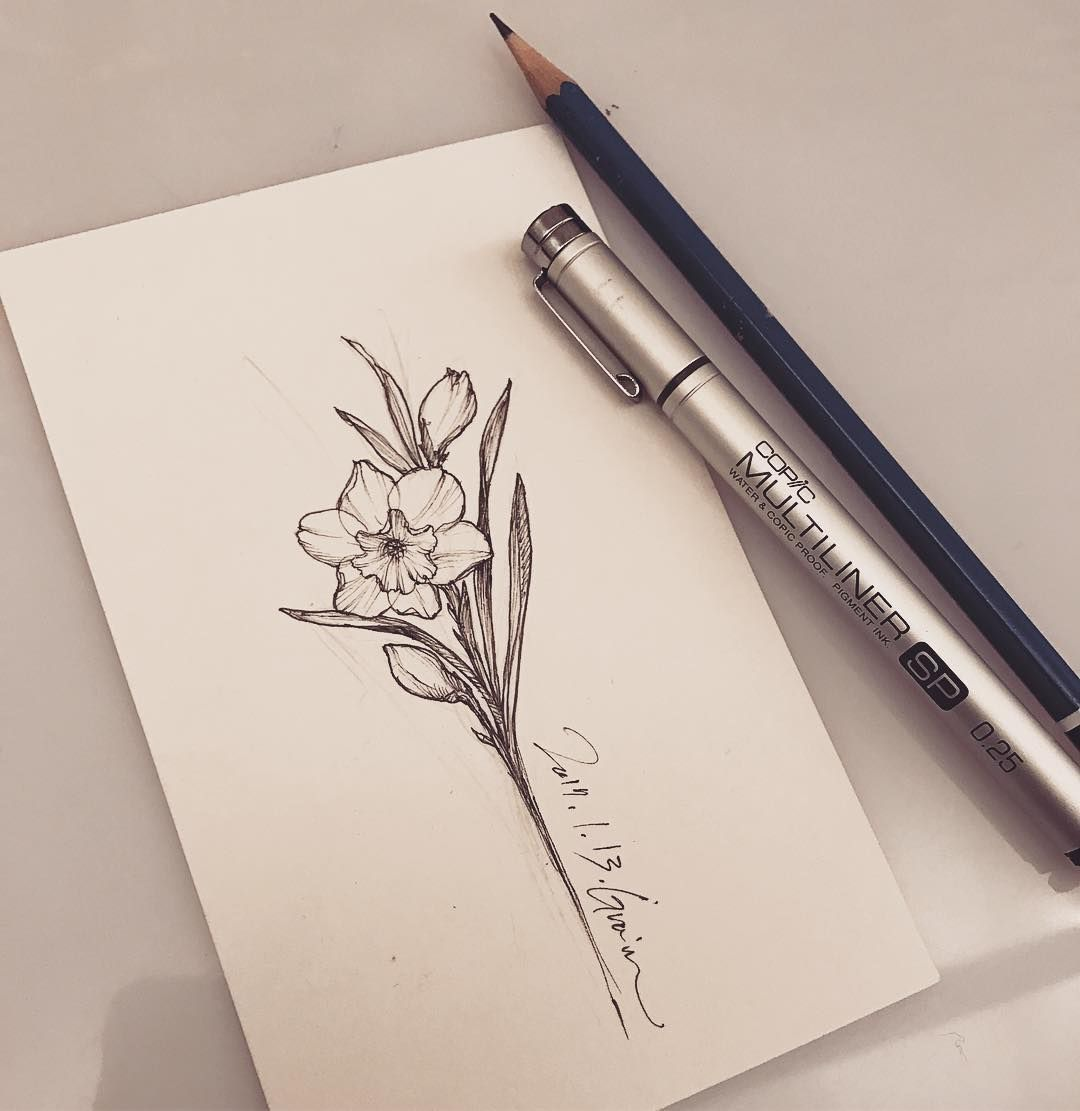 Tattooist Grain On Instagram Narcissus Narcissus Narcissustattoo Flower Flowerdrawing Narcissus Flower Tattoos Name Flower Tattoo Narcissus Tattoo