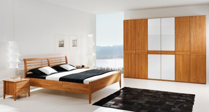 team 7 sesam bett in kirschbaumholz mit drei verschiedenen kopf h uptern erh ltlich home. Black Bedroom Furniture Sets. Home Design Ideas