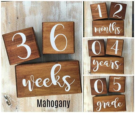 Versatile and timeless these baby age blocks fit with your 4 month old and your 14 year old baby milestone blocks make a great baby shower gift