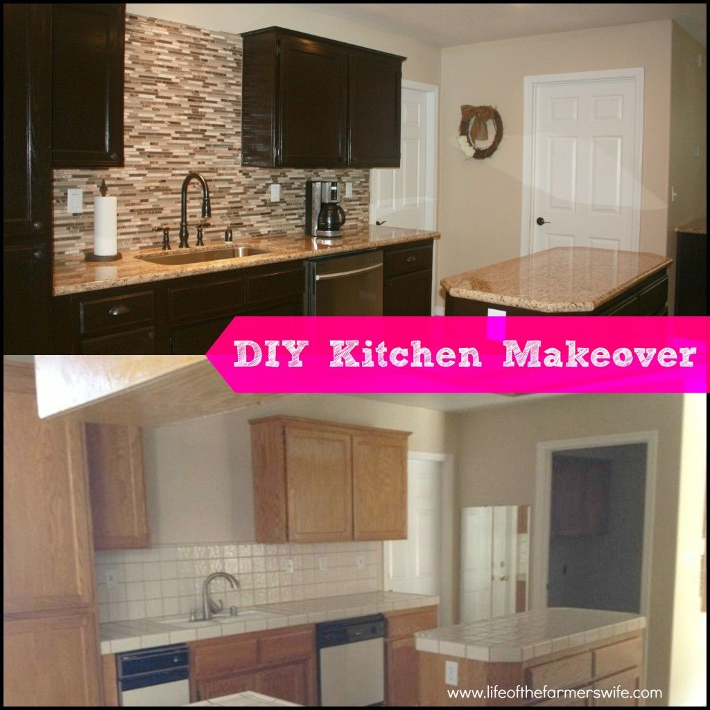 Diy Kitchen Makeover diy complete kitchen makeover} stepstep instructions on
