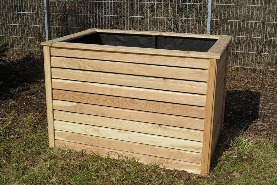 Hochbeet Aus Holz Masse 125 X 85 Cm 80 Cm Hoch Aus Larchenholz Bausatz Zur Selbstmontage Mit Vlies Hochbeet Garten Kaufen Larchenholz