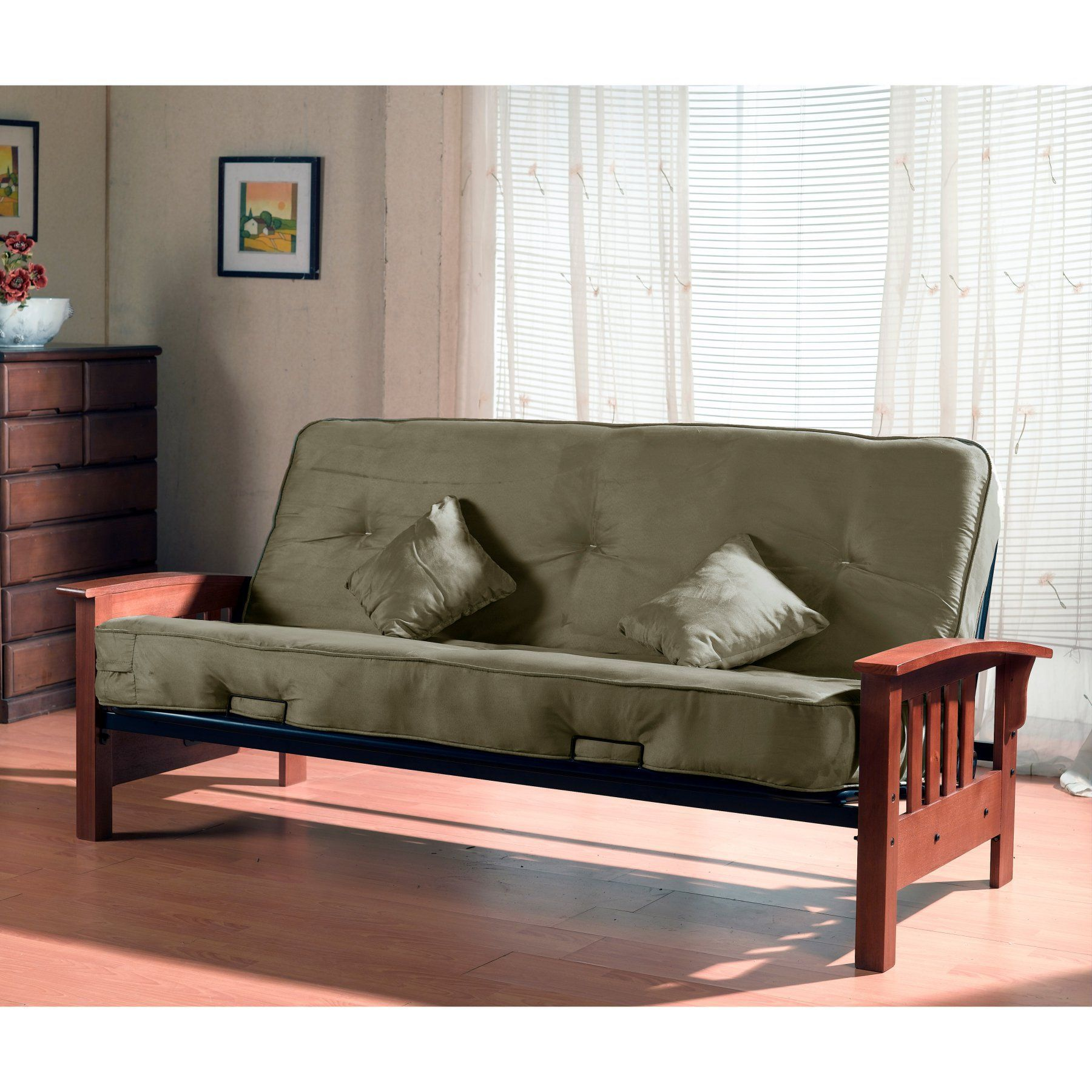 Medium image of pocket coil futon mattress and frame   10735