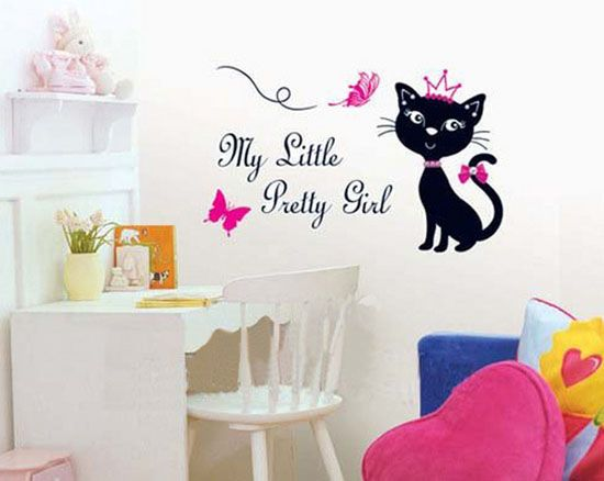Black Cat Wall Stickers Modern Interior Decorating Ideas Room Themes Diy Wall Decals Wall Stickers Home