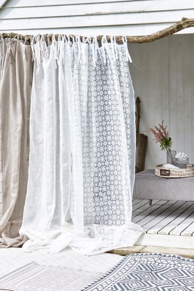 Lene Bjerre Calva Gordijn Polyester/Katoen Wit - 140 x 250 cm ...