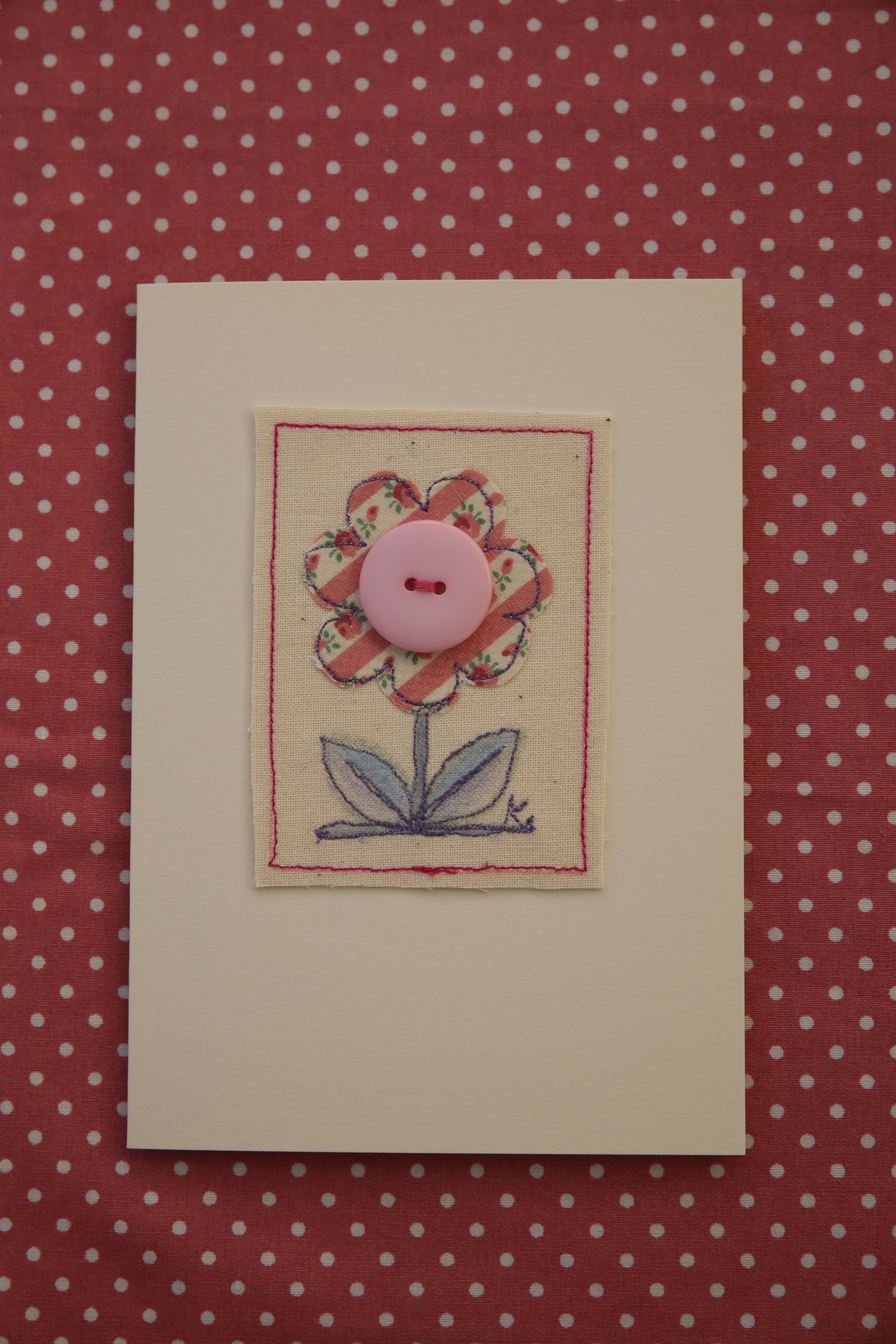One of my freehand machine embroidery cards crafty ideas one of my freehand machine embroidery cards kristyandbryce Image collections