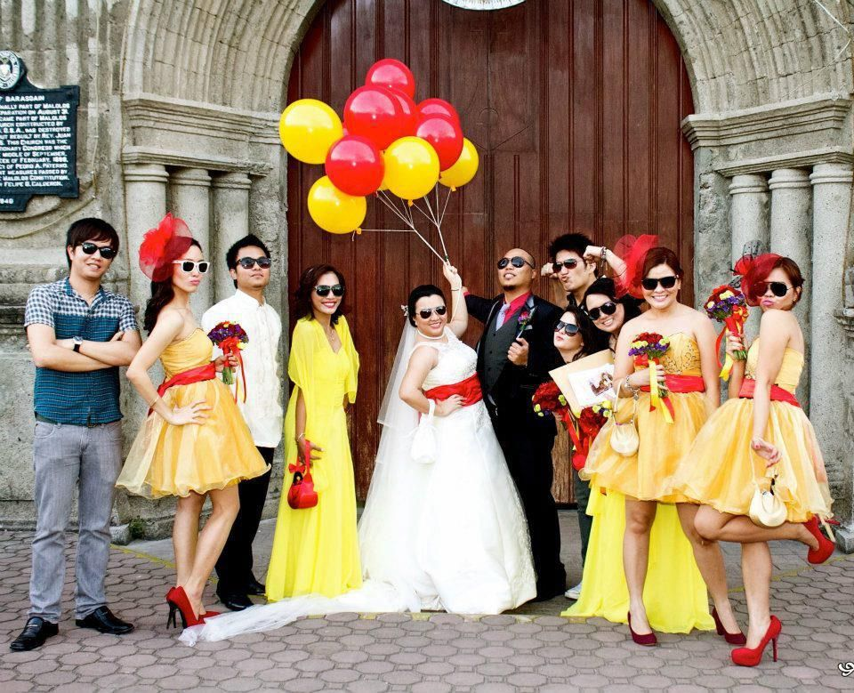 Red Yellow Wedding Cool Bright