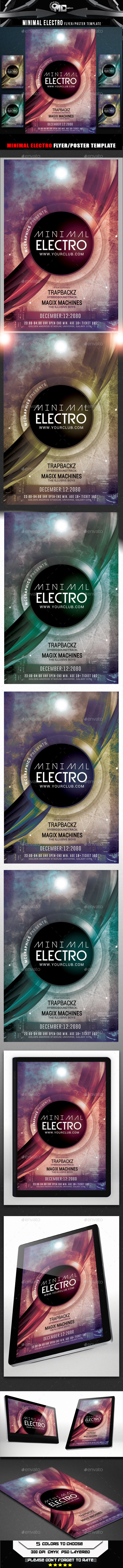 Minimal Electro Flyer Template - Clubs & Parties Events