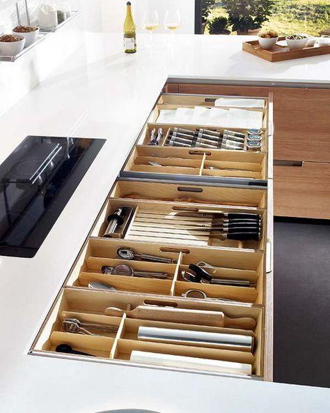 Ordnung System Besteckkasten Schublade Unterschrank Küche Elena - organisation kuchen schubladen
