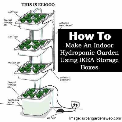 How to make an indoor hydroponic garden using ikea storage - Cultivo interior ikea ...