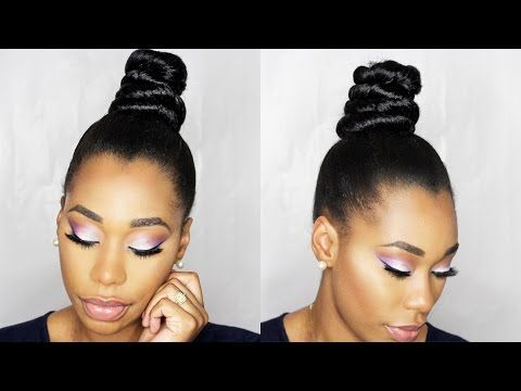 How To Ninja Top Knot Bun With Braiding Hair Step By Step Chimerenicole Top Knot Hairstyles Top Knot Bun Braided Bun Hairstyles