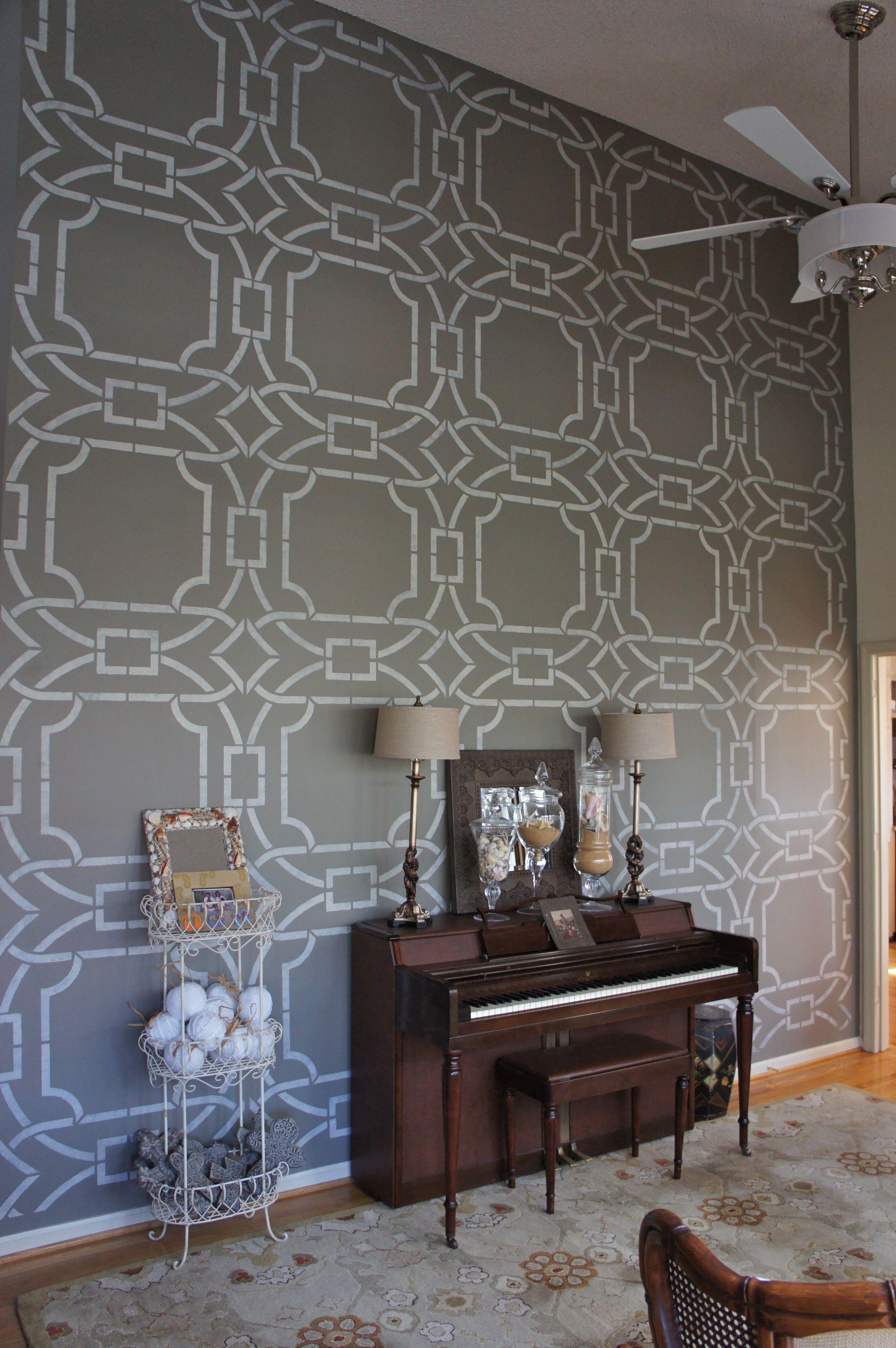Decorative Finishes Studio Contempo Trellis Stencil From Royal Design Studio Stenciled Wall
