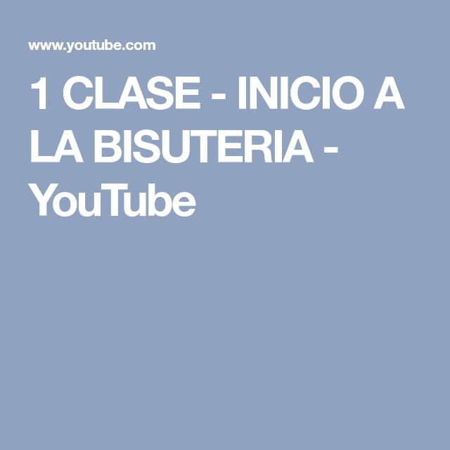 7094fc35c592 1 CLASE - INICIO A LA BISUTERIA - YouTube Clases De Bisuteria