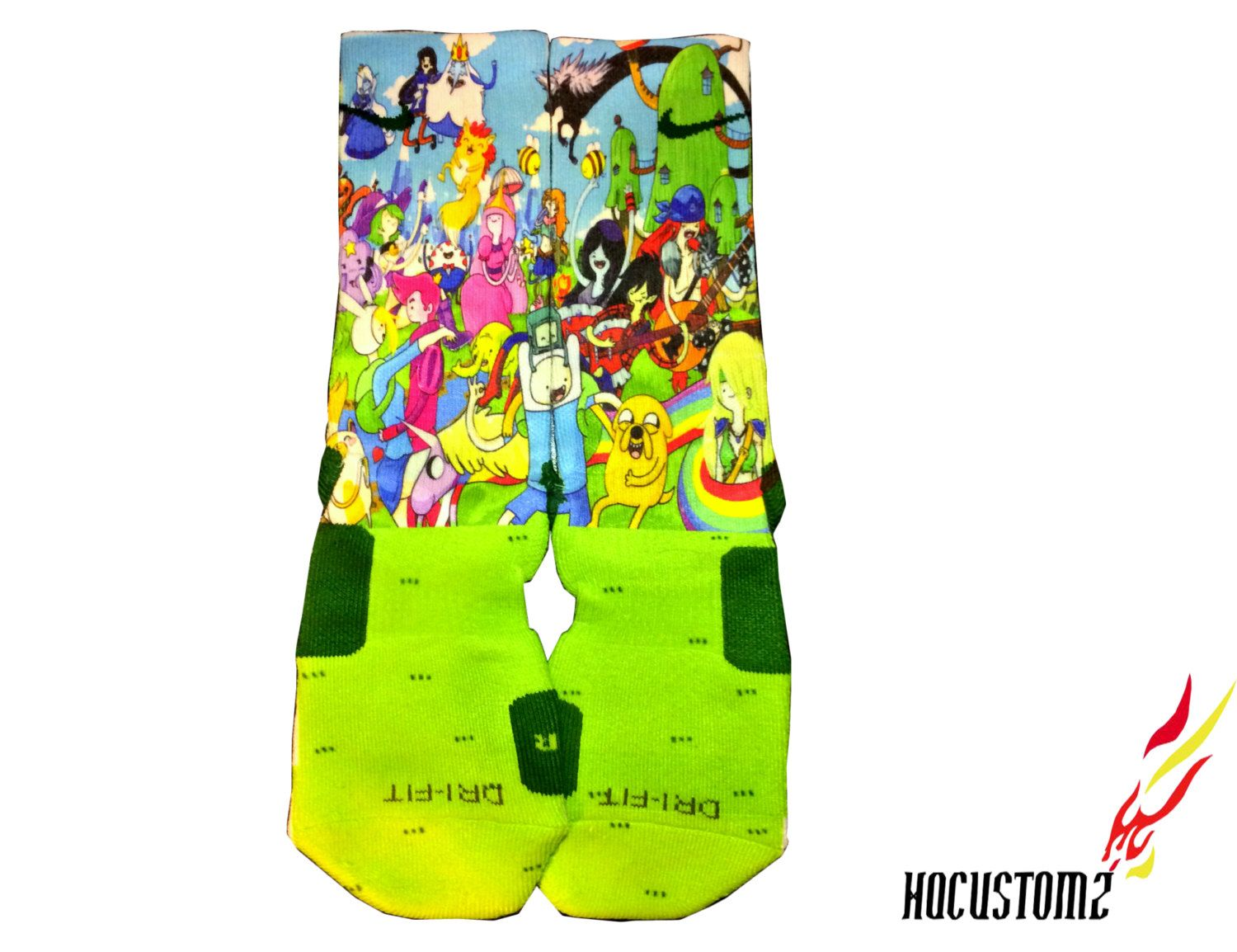 Adventure Time Custom Nike Elite Socks ALL SIZES by HQcustomz, $29.94 - Adventure Time Custom Nike Elite Socks ALL SIZES By HQcustomz