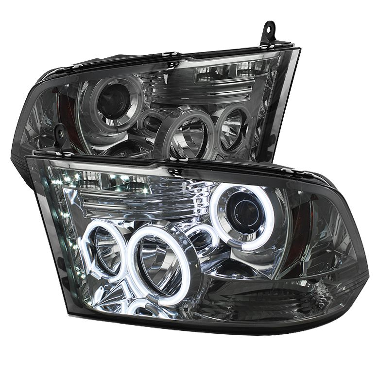 dodge ram 1500 2009 2012 ccfl led projector headlights. Black Bedroom Furniture Sets. Home Design Ideas
