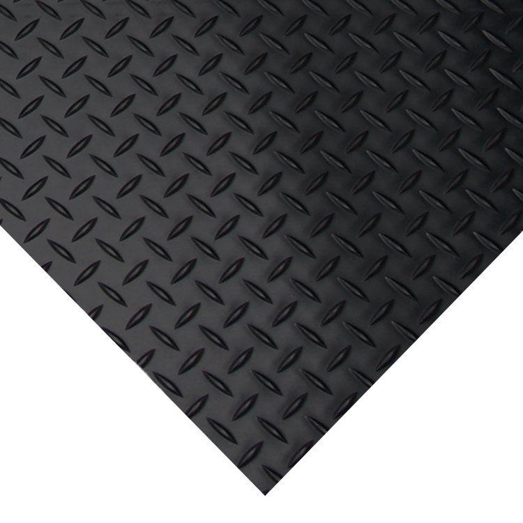Diamond Plate Garage Flooring Roll In Black Rubber Flooring Rolled Rubber Flooring Diamond Plate