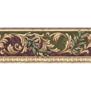 The Wallpaper Company 8 in. x 10 in. Purple and Green