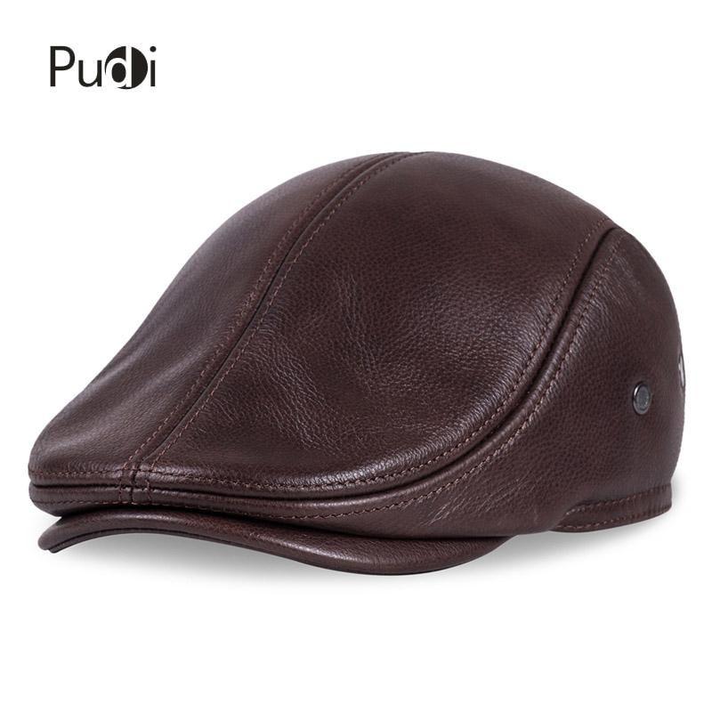 Cheap Hl041 nuevo diseño Men  s 100% cuero genuino   vendedor de periódicos    la boina   Cabbie sombrero   sombrero del Golf e0b9a729393