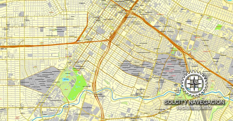 graphic regarding Houston Map Printable referred to as Houston, Texas, US printable vector road Metropolis Software map