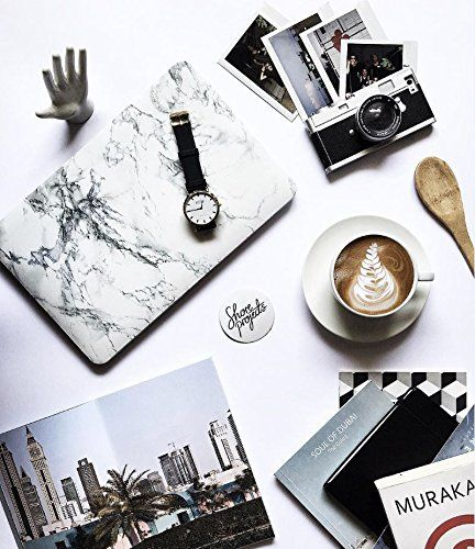 best service ff677 7249a Amazon.com: Macbook Pro 13 Retina Case, GMYLE White Marble Pattern ...