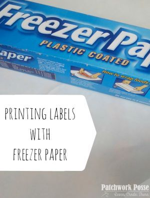 How to use Freezer Paper to Print on Fabric - | Freezer paper ... : freezer paper quilting - Adamdwight.com