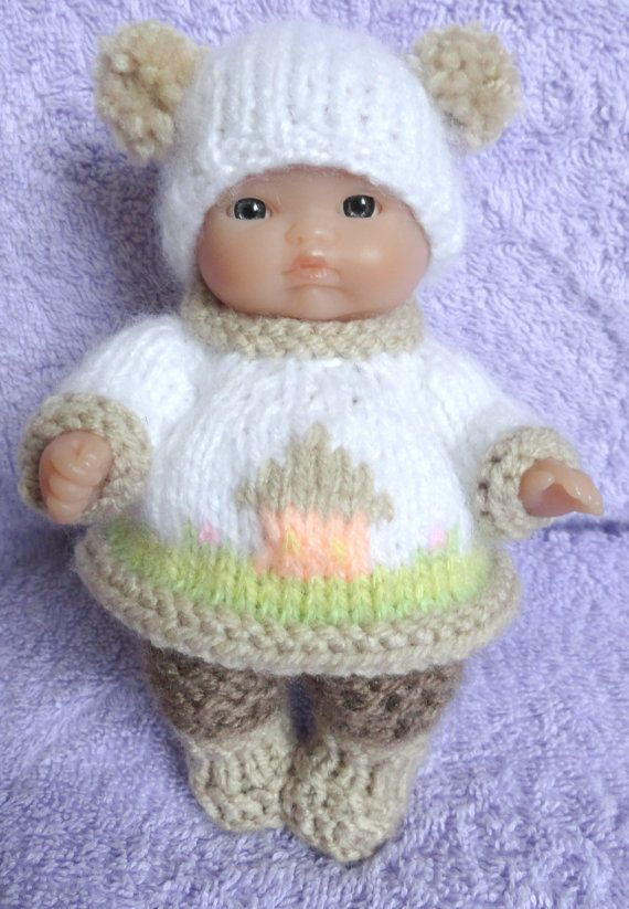Hand Knitted Dolls Clothes For 5 Berenguer Doll 114 Dolls
