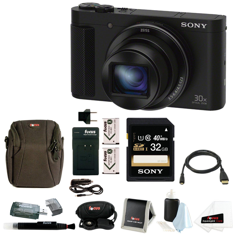 Sony Cyber Shot Dsc Hx90v Digital Camera With 32gb Deluxe Accessory Bundle Digital Camera Camera Sony
