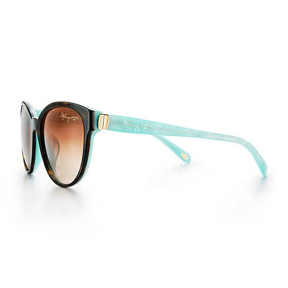 57012f589dd Tiffany 1837® phantos sunglasses in havana and Tiffany Blue® acetate ...