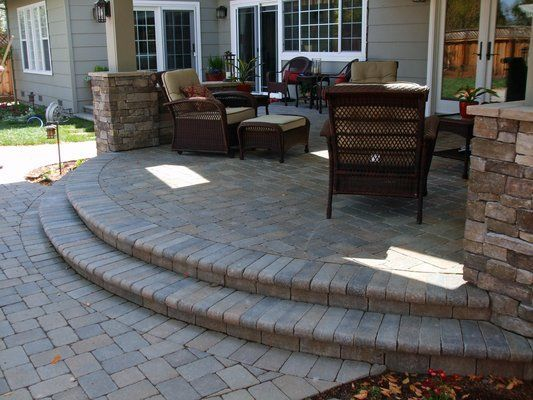 Superieur Brilliant Stone Decks And Patios Designs Interlocking Paver Patio Under Deck  Love The Gently Curving Long
