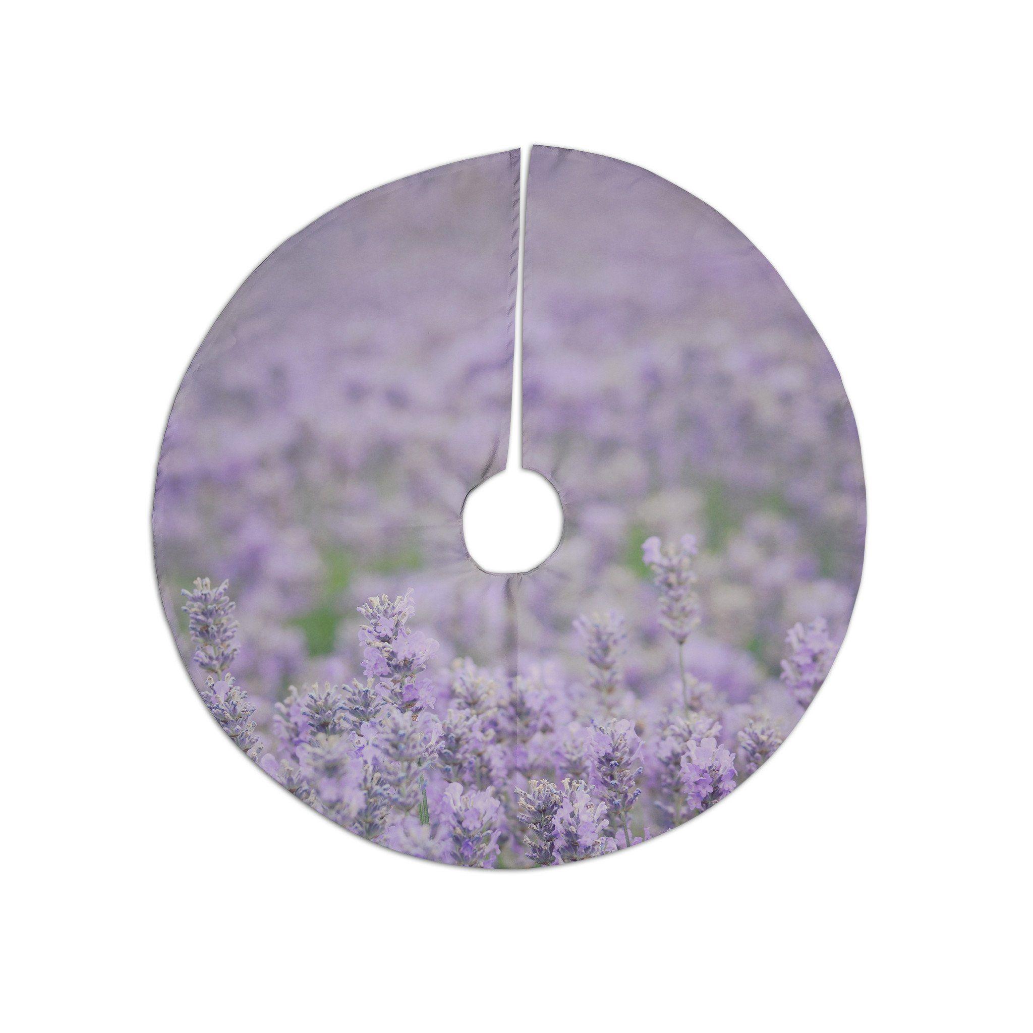 robin dickinson everywhere lavender purple christmas tree skirt