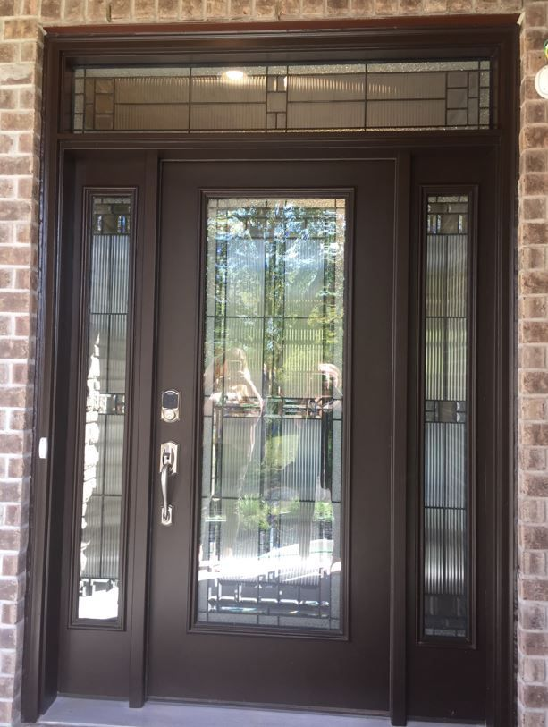 Saratoga Full Glass Front Door Painted Sw6006 Black Bean Full
