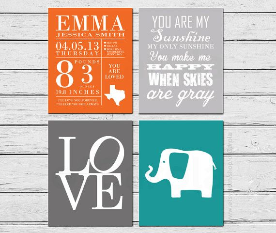Fall Autumn Birth Announcement You Are My Sunshine by ofCarola, $39.00